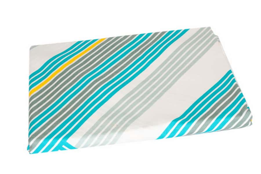 Bed Sheet Full Size Abstract Turquoise Stripe Pattern - Balooworld