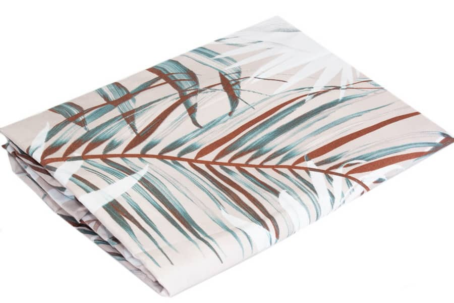 Bed Sheet Queen Size Allover Tropical Leaf Print - Balooworld