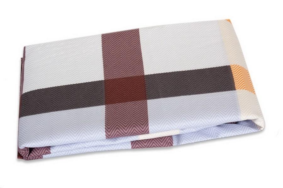 Bed Sheet Queen Size Contrast Plaid & Zig-Zig Stripes Print - Balooworld