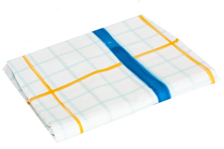 Bed Sheet Full Size Blue & White Plaid Pattern - Balooworld