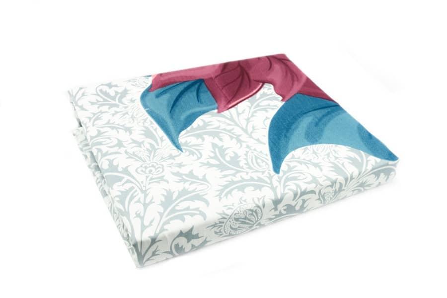 Bed sheet Queen Size Flower & Leaves Print - Balooworld