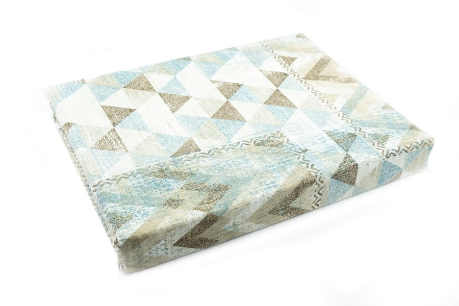 Bed Sheet Queen Size Abstract Triangle Pattern - Balooworld