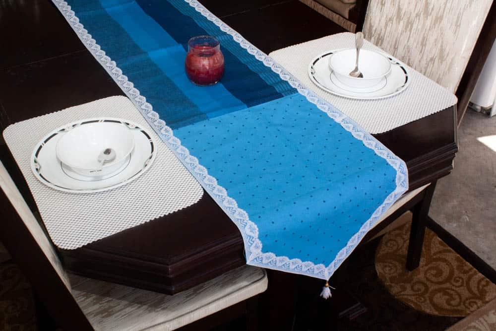 Table Runner Large Blue Bold Stripes Table Runner - Balooworld