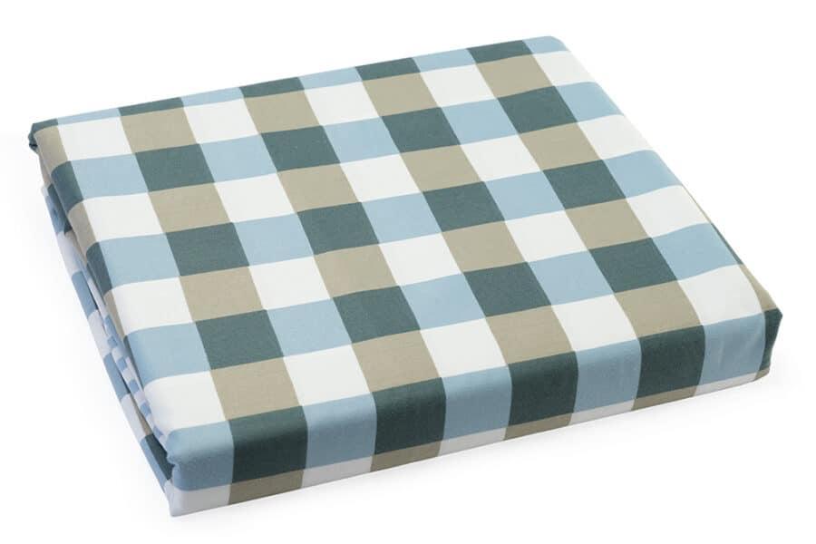 Bed Sheet King Blue Geometrical pattern - Balooworld