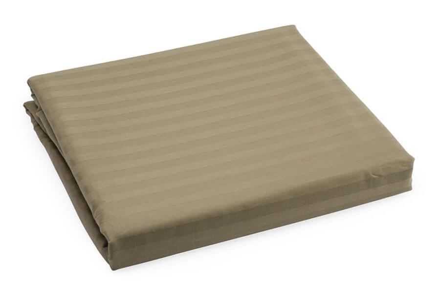 Bed Sheet Queen Size Brown Silk Satin Stripes - Balooworld