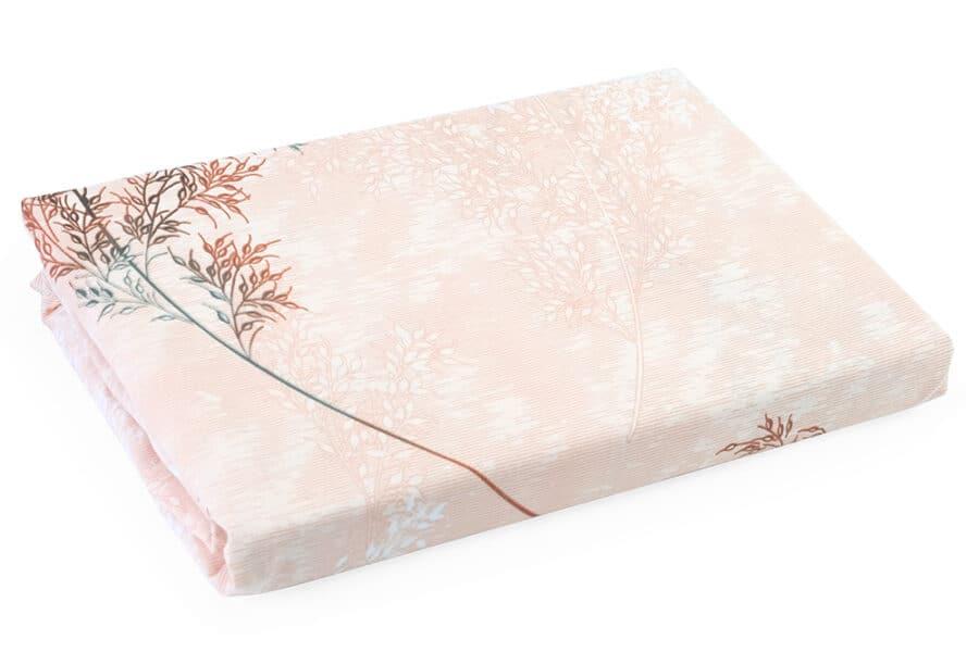 Bed Sheet Queen Size Leaf Overlay Pattern - Balooworld
