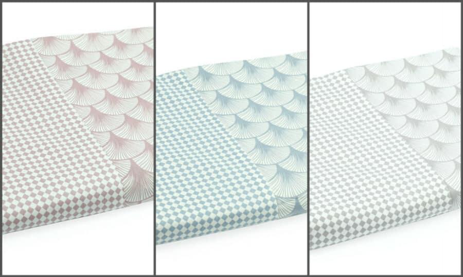 Bed Sheet Full Size Shell Fan geometric Pattern combine - Balooworld
