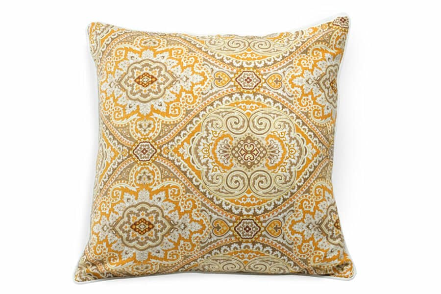 Orange Damask pattern cushion Cover - balooworld.ca