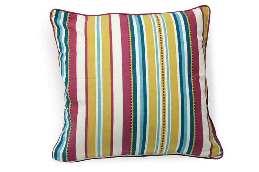 solid color stripe on cotton cushion cover - balooworld.ca