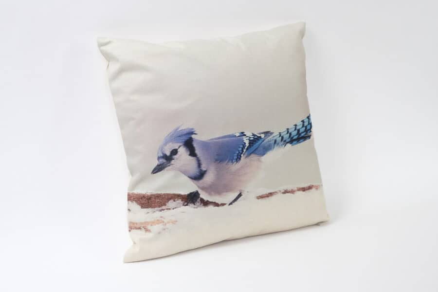 Blue jay Bird pattern balooworld-cushion-cover