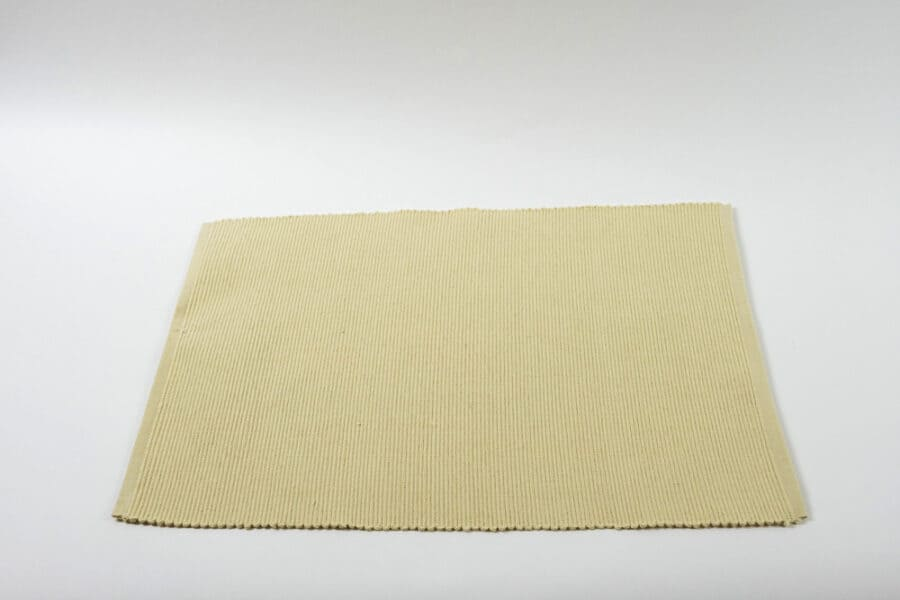 Natural ribbed placemat single balooworld-tabletop-placemat