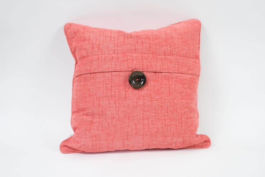 Red Envelope cushion with button balooworld-cushion-cover