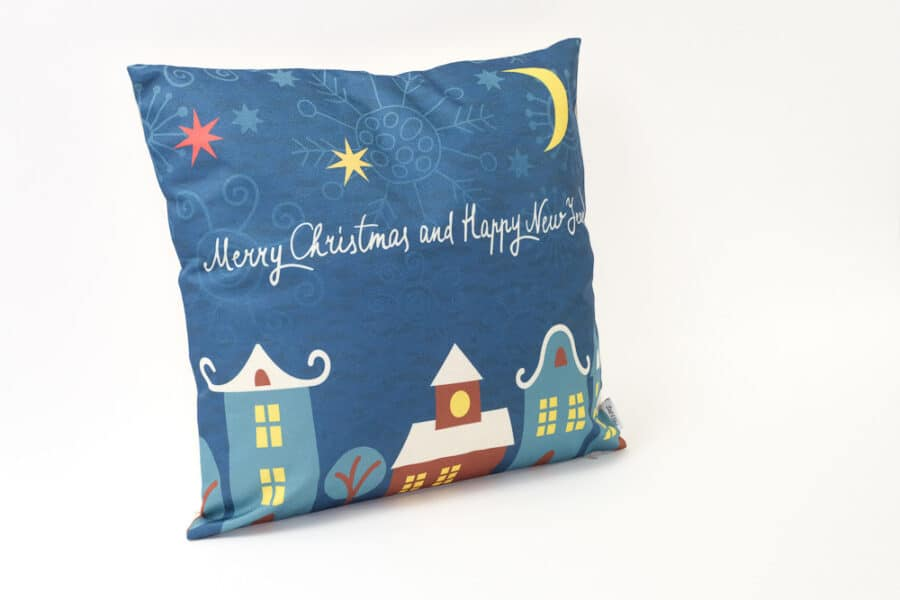 starry city night cushion cover balooworld