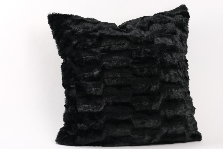 Black-faux-fur-throw-pillow-cushion-balooworld
